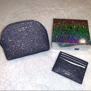Kate Spade small Cosmetic bag and Card Holder